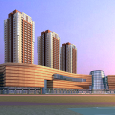 Architecture 597 High Rise Residential Building 3D Model
