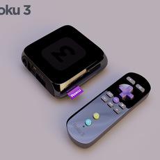 roku 3 media 3D Model