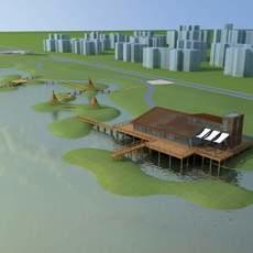 Architecture 601 Landscape Residential Building 3D Model