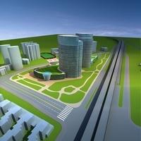Architecture 606 office Building 3D Model