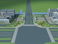 Architecture 607 Hotel Building 3D Model