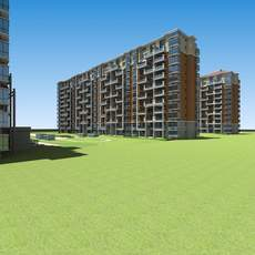 Architecture 610 multilayer Residential Building 3D Model