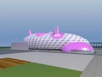Architecture 612 Landscape Building 3D Model