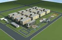 Architecture 616 Factory Building 3D Model