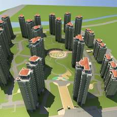 Architecture 619 High Rise Residential Building 3D Model