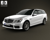 Mercedes-Benz E-class 63 AMG estate 2010 3D Model