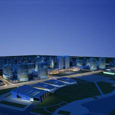 Architecture 621 office Building 3D Model