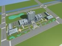 Architecture 627 office Building 3D Model