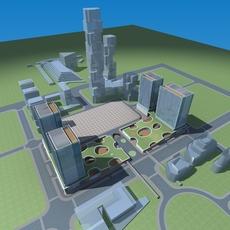 Architecture 630 office Building 3D Model