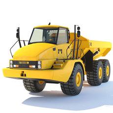 Articulated Dump Truck 740 3D Model