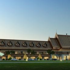 Architecture 058 -Hotel building 3D Model
