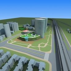 Architecture 635 office Building 3D Model