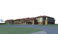 Architecture 636 Hotel Building 3D Model