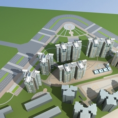 Architecture 638 High Rise Residential Building 3D Model