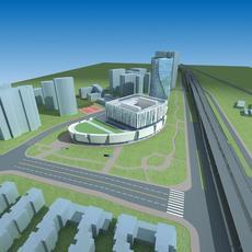 Architecture 639 office Building 3D Model
