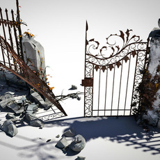 broken ornamental gate 3D Model