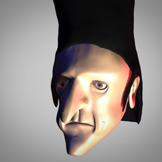 bad guy head 3D Model