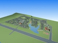 Architecture 650 City block Building 3D Model