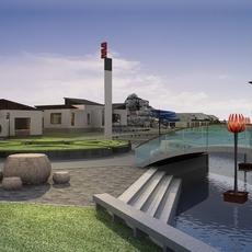 Architecture 653 Landscape Building 3D Model
