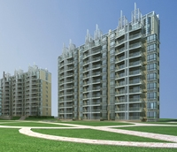 Architecture 656 High Rise Residential Building 3D Model