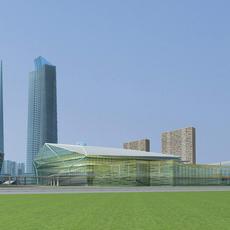 Architecture 657 office Building 3D Model