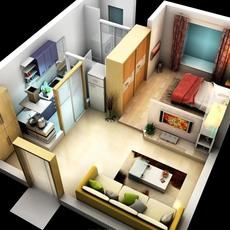 Bedroom Condo 001 3D Model