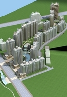 Architecture 658 High Rise Residential Building 3D Model