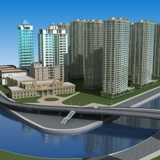 Architecture 659 High Rise Residential Building 3D Model