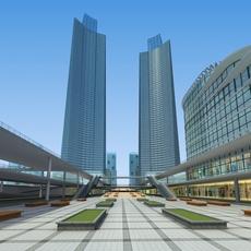 Architecture 663 office Building 3D Model