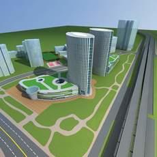 Architecture 666 office Building 3D Model