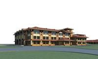 Architecture 667 Hotel Building 3D Model