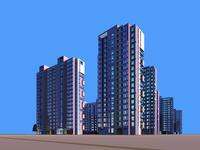 Architecture 669 High Rise Residential Building 3D Model