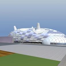 Architecture 671 Commercial Building 3D Model