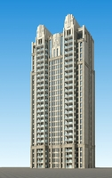 Architecture 684 High Rise Residential Building 3D Model