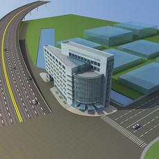 Architecture 686 office Building 3D Model