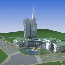 Architecture 688 office Building 3D Model