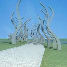 Architecture 690 Landscape Building 3D Model