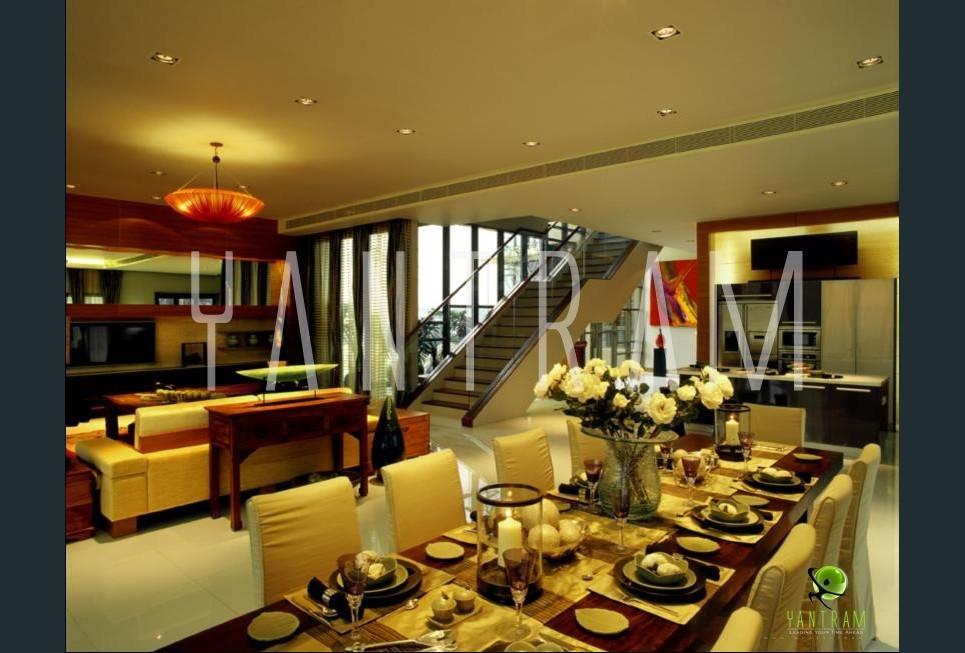 3d dining room interior design show