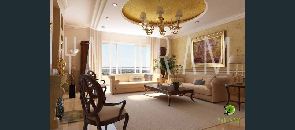 3d rendering interior view show