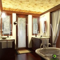 3d bathroom interior rendering cover