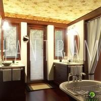 3d bathroom interior rendering cover