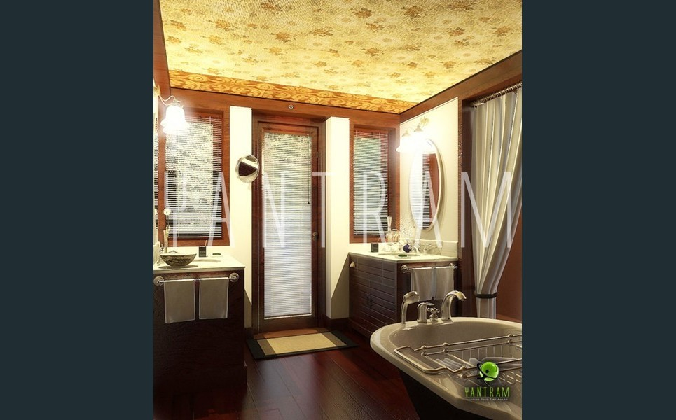 3d bathroom interior rendering show