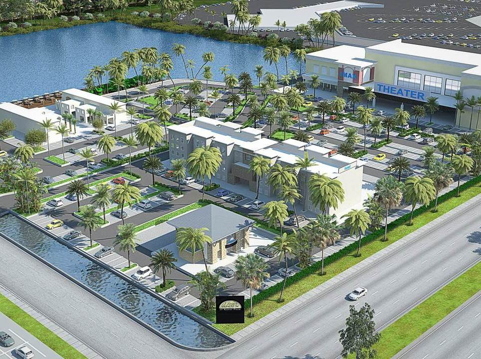 3d exterior arial view rendering show