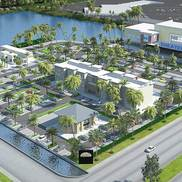 3d exterior arial view rendering small