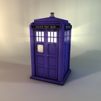 Police box (The Tardis) 3D Model