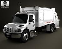 Freightliner M2 Heil PT 1000 Garbage Truck 2012 3D Model