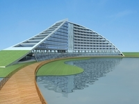 Architecture 695 office Building 3D Model