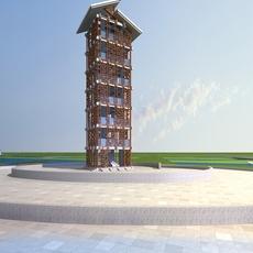 Architecture 696 Landscape Building 3D Model