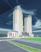 Architecture 698 Skyscraper Building 3D Model