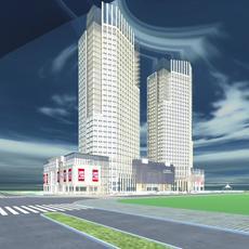 Architecture 698 Skyscraper Building 3D Model
